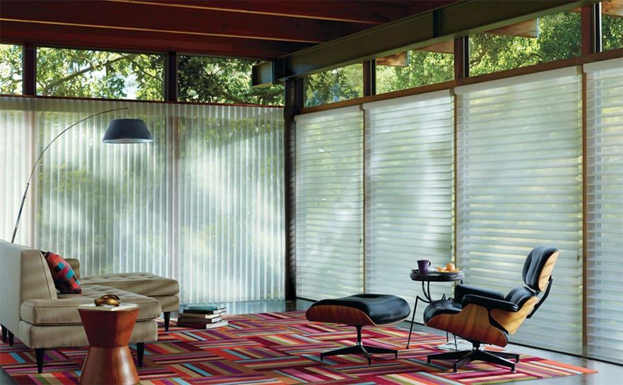 Sliding Glass Door Solutions for Homes Near San Antonio, Texas (TX) like Luminette Privacy Sheers